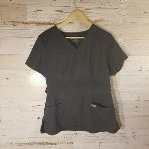 Grey's Anatomy gray scrub top